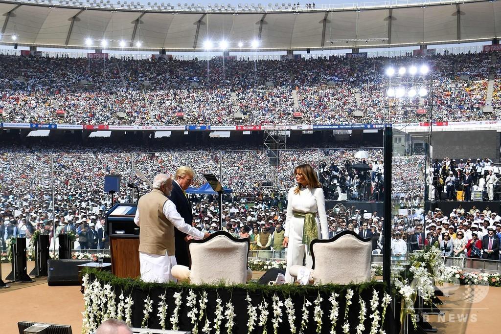 インド、初めて公式訪問のトランプ氏を熱烈歓迎