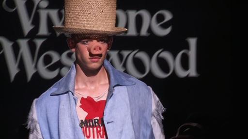 動画:ユニークなテキスタイルで彩る、「ヴィヴィアン・ウエストウッド」15年春夏メンズ
