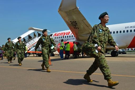 陸上自衛隊、南スーダン到着 新任務に「駆け付け警護」