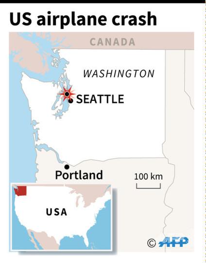 自殺試みた男が旅客機盗んで墜落させる、戦闘機が緊急発進 米シアトル