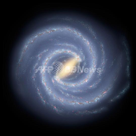 真上から見た天の川銀河、主な腕は「2本」