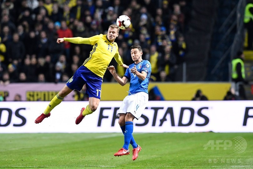 スウェーデンがW杯PO先勝、常連...