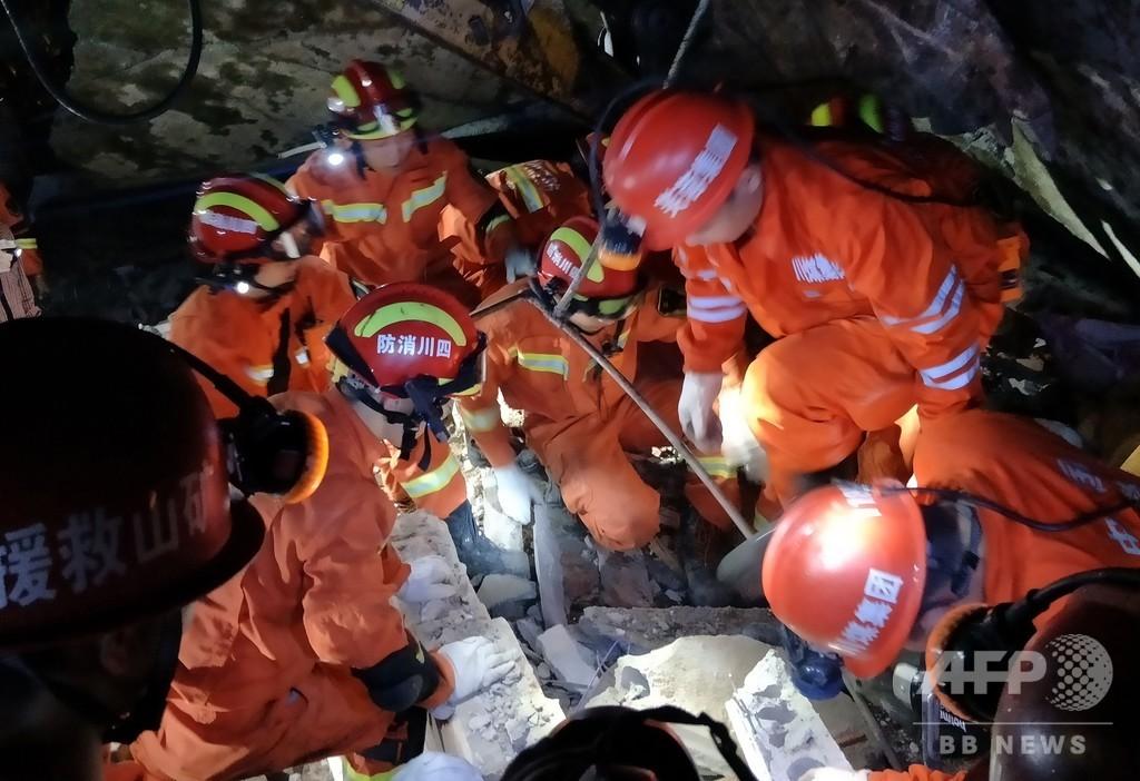 中国・四川省でM6.0の地震、12人死亡 134人負傷