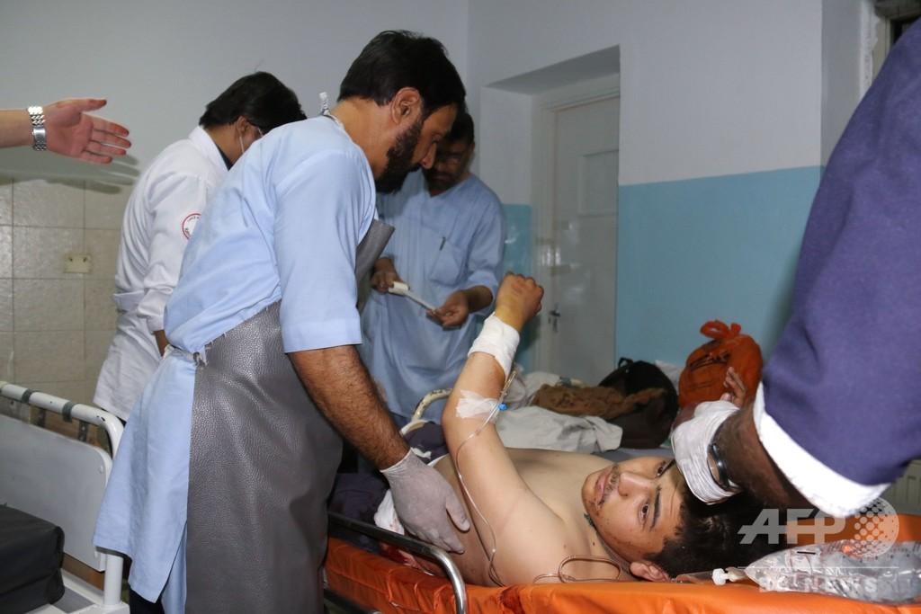レスリングクラブで連続爆破、記者ら20人死亡 アフガン首都