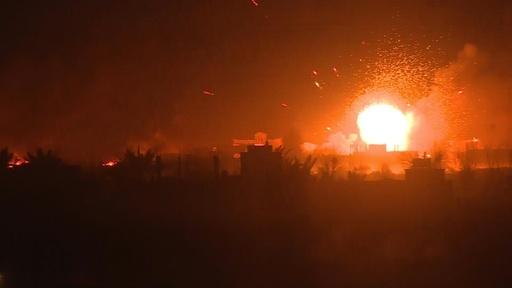 動画:シリア最後のIS拠点で大きな爆発と火柱、壊滅へ最終攻勢続く