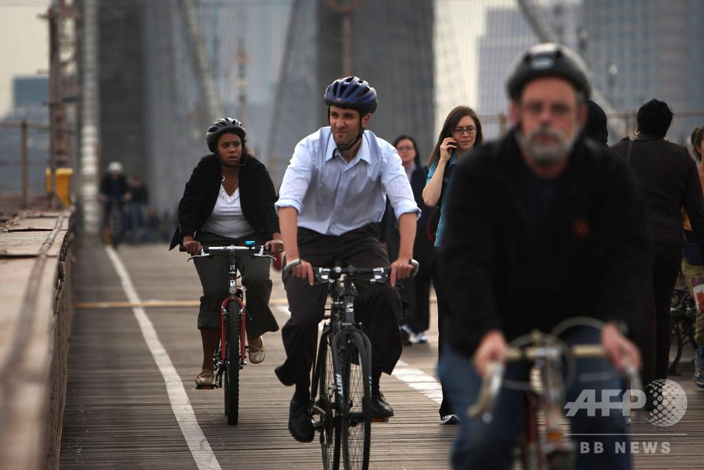 米NY、自転車用レーン拡張に63億円 死亡事故急増で