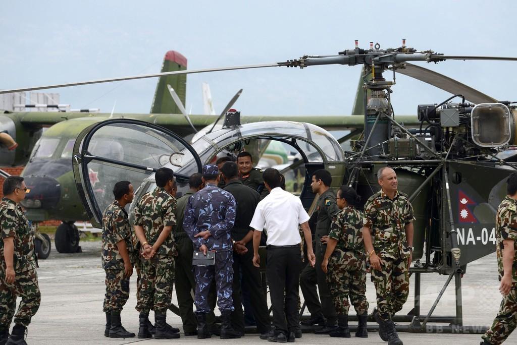 ネパールの米軍ヘリ墜落、兵士8人の死亡を確認