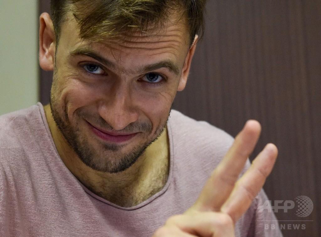 ロシア裁判所、W杯決勝乱入で禁錮刑のパンクバンドの上訴棄却
