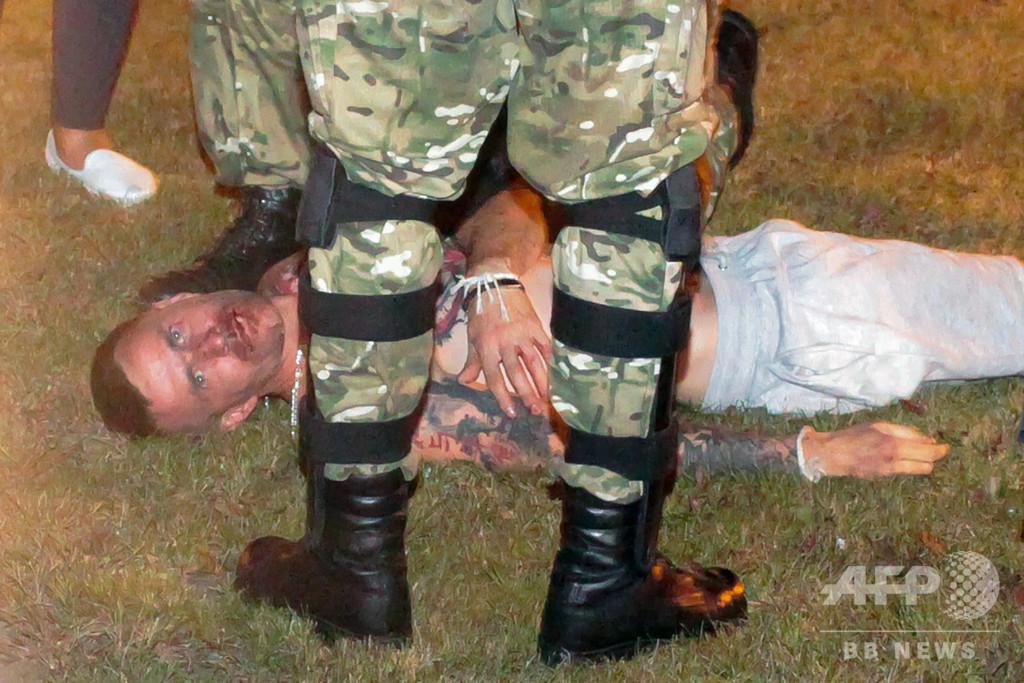ベラルーシ大統領選、デモ参加者1人死亡か 内務省は否定