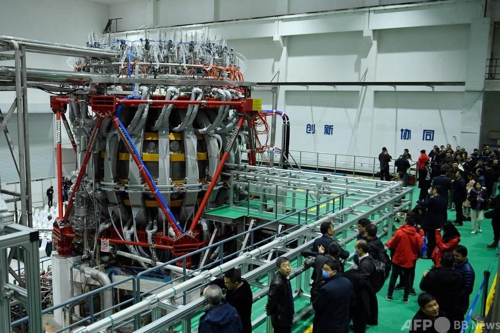 中国、「人工太陽」を初稼働 同国最大の核融合研究装置