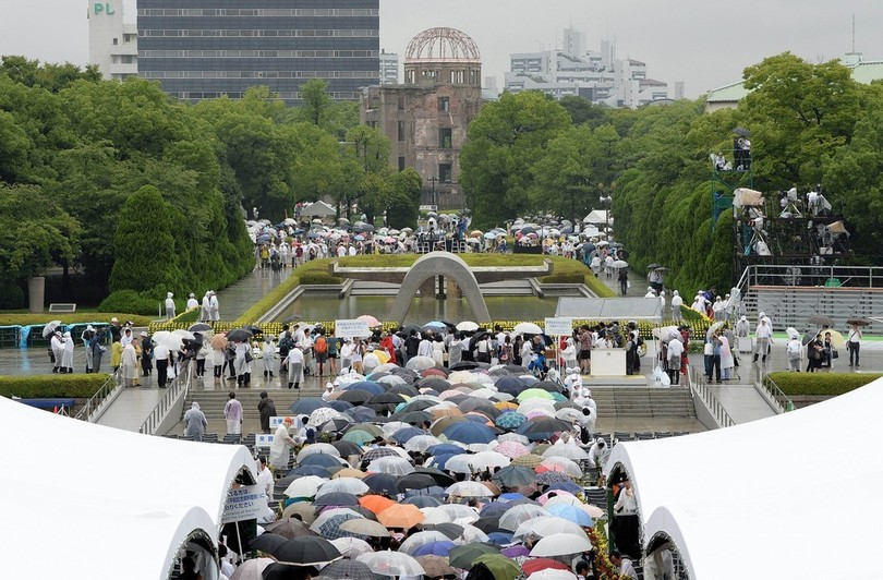 広島、69年目の原爆の日 「被爆者の声を聞いて」