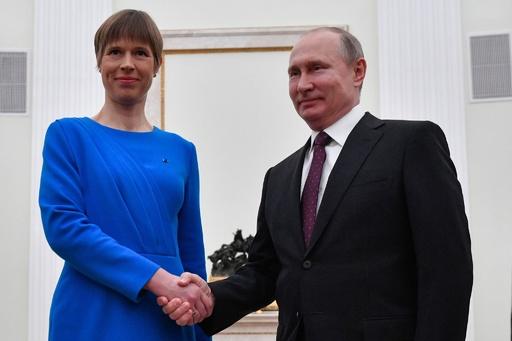 エストニア大統領が8年ぶりロシア訪問、プーチン氏と会談
