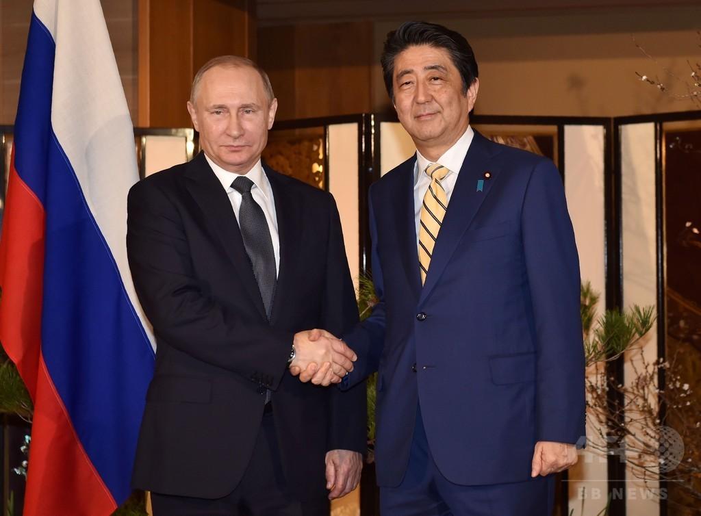 安倍首相とプーチン大統領が山口で会談、領土問題の打開探る