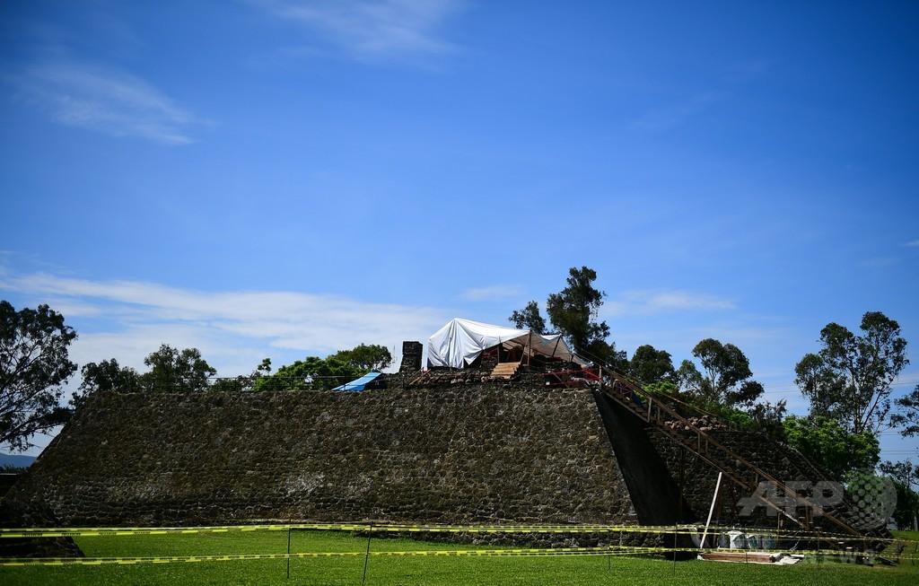 メキシコ地震で被災のアステカ遺跡、中から新たな神殿見つかる