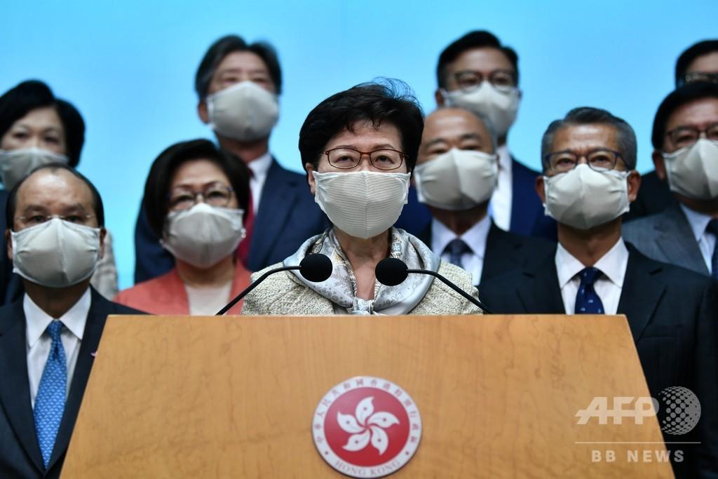国家安全法は「一握りの違反者のみ対象」 香港行政長官が擁護