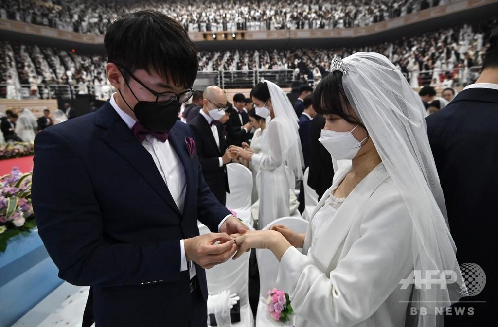 障害あれば愛深まる? 統一教会の合同結婚式、ウイルス懸念の中で開催