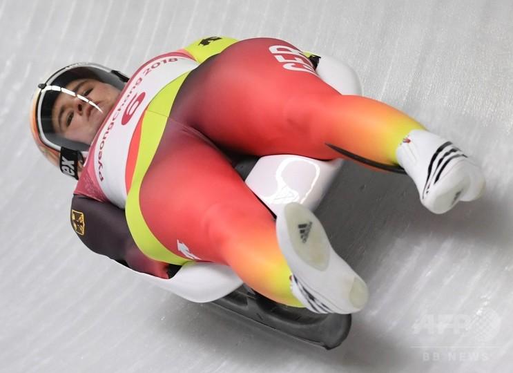 ガイゼンベルガーがリュージュ女子1人乗り連覇、平昌五輪