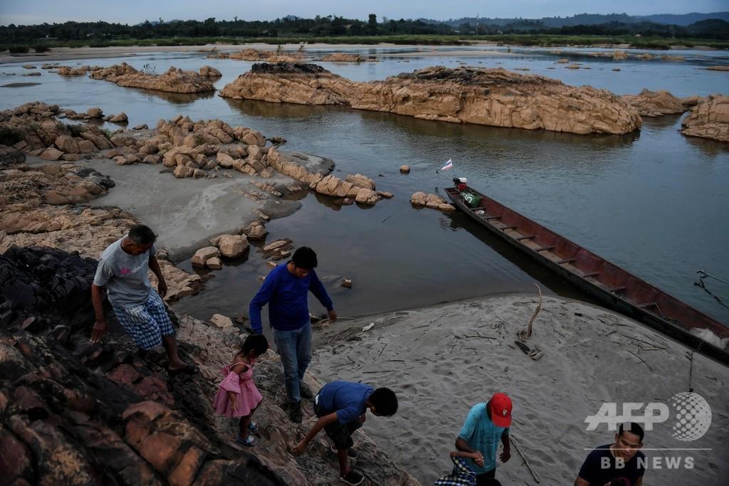 ダム建設と干ばつが原因 メコン川が記録的低水位に タイ