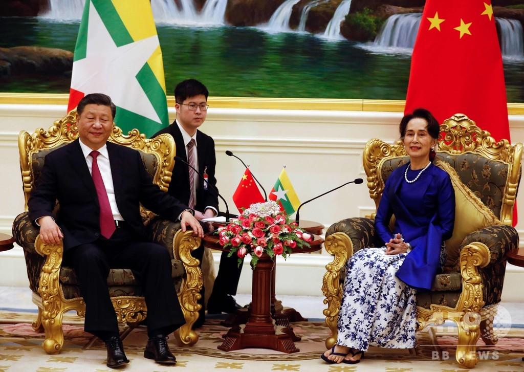 中国の習主席がミャンマー訪問、両国関係の「新時代」誓う