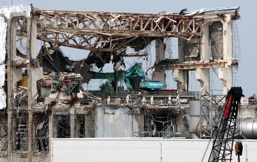 福島第1原発、東電が報道陣に公開