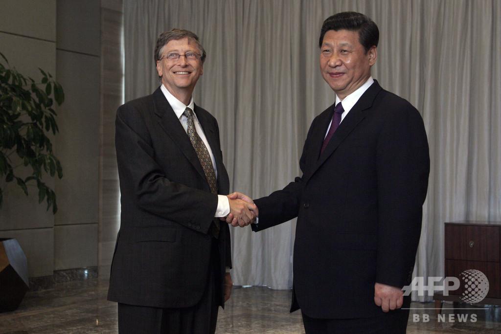 中国の習国家主席、新型肺炎対策支援でゲイツ氏財団に謝意