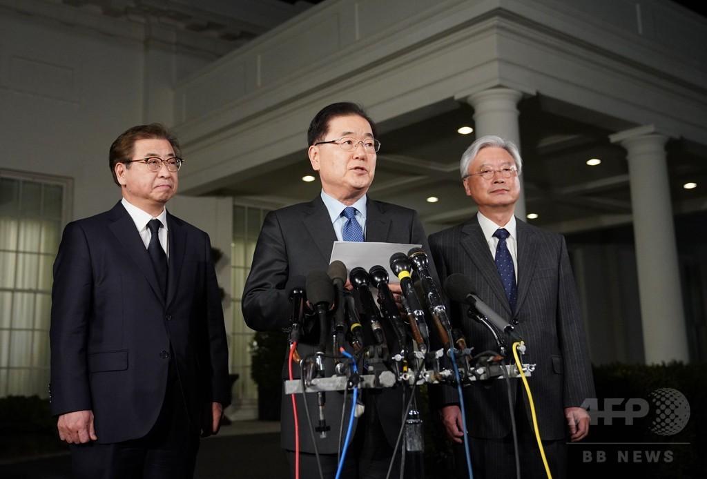 トランプ氏、金正恩氏と5月までに会談へ 朝鮮半島の非核化目指す