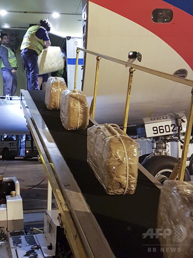 ロシア大使館からコカイン400キロ押収、外交特権で密輸もくろむ