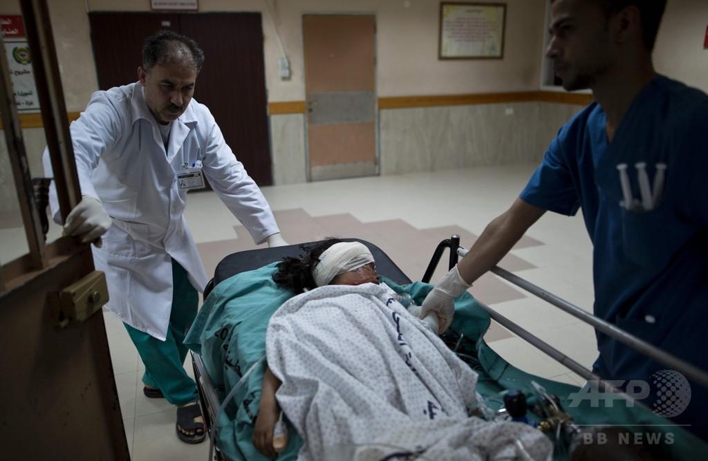 イスラエルがガザ地区を空爆、巻き添えで兄妹3人が死傷