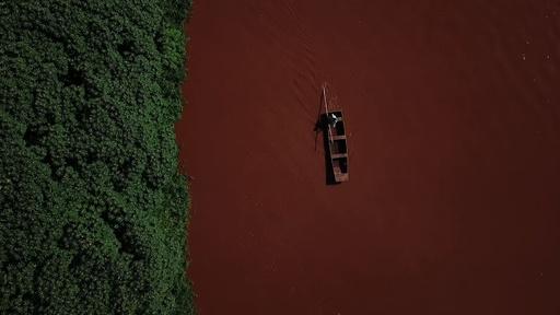 動画:ブラジル鉱山ダム決壊から2か月、河川汚染続く