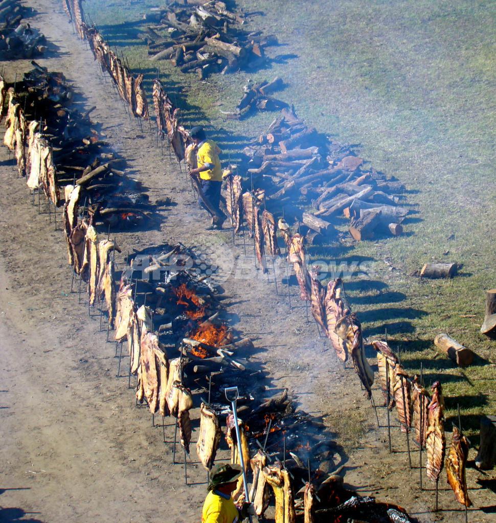 世界最大のバーベキュー大会、新記録はアルゼンチン