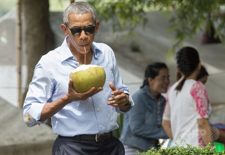 オバマ米大統領、ココナツジュー...
