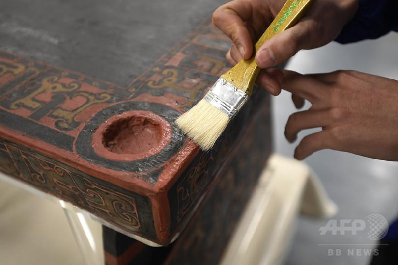 中国最古の漆の寝台が復活、修復作業に17年 成都