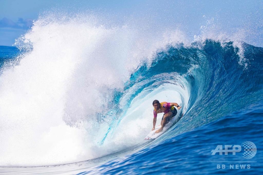 パリ五輪サーフィン会場、本国から1万5700キロ離れたタヒチに決定