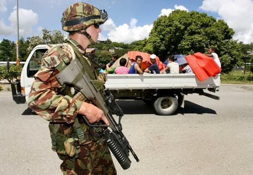 台湾と断交のソロモン諸島、警察は中国系住民への反発警戒