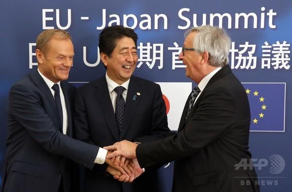 三角関係:EUと日本の貿易協定の限界