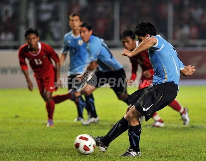 ウルグアイ7発、インドネシアに快勝 国際親善試合