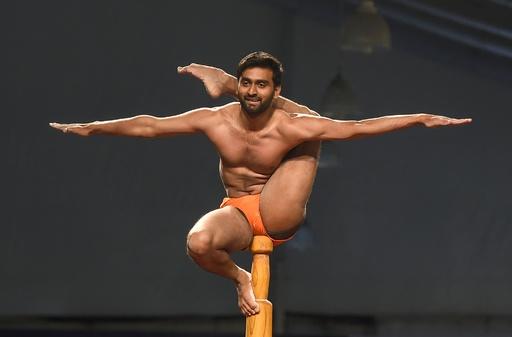 ポール上のヨガこと「マラカーンブ」、インドで初の世界大会