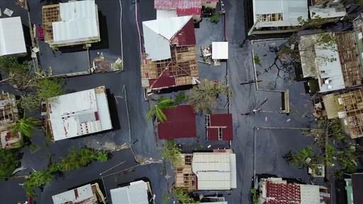 動画:ハリケーンで冠水したプエルトリコの町並み