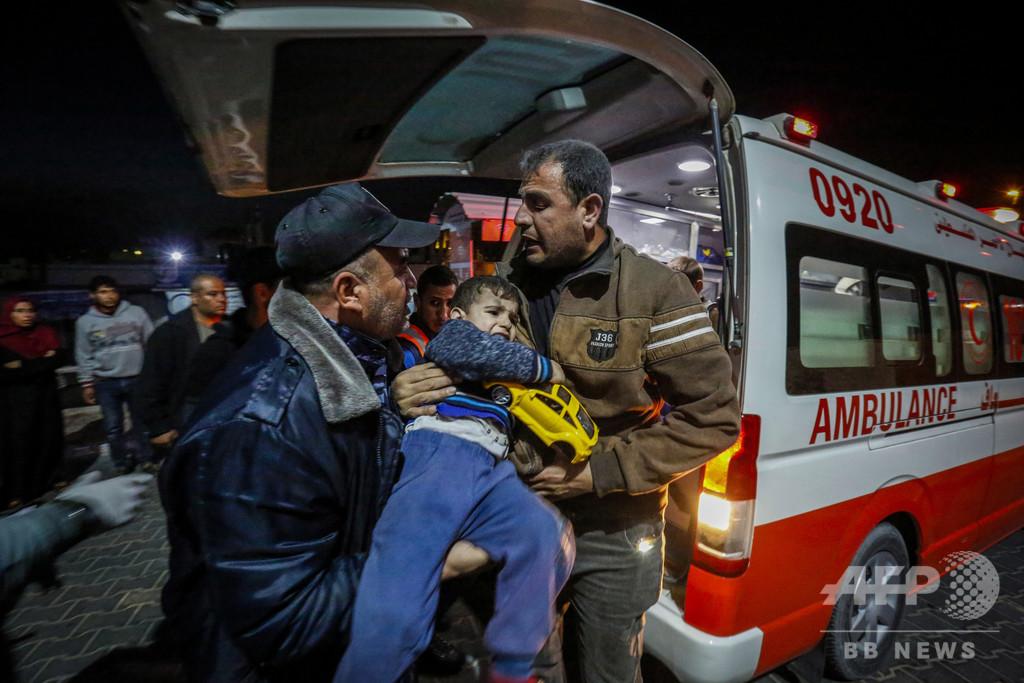 ガザ地区、パレスチナ人死者23人に イスラエルの報復攻撃続く