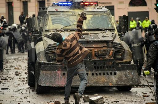 エクアドル 燃料高騰で抗議デモ激化、非常事態宣言