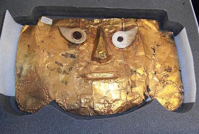 古代シカン文化の黄金仮面、独からペルーに返還 20年の争いに幕