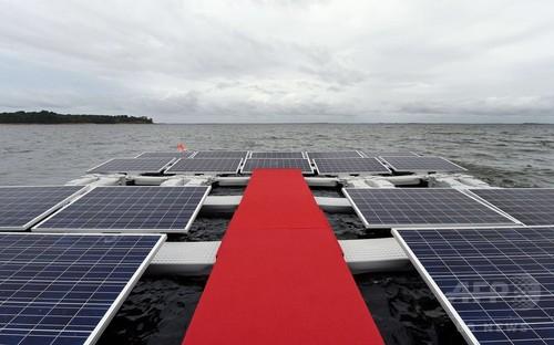ダム人造湖に太陽光パネルの設置計画、ブラジル