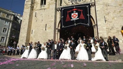動画:守護聖人の贈り物、リスボンで毎年恒例の豪華な無償結婚式