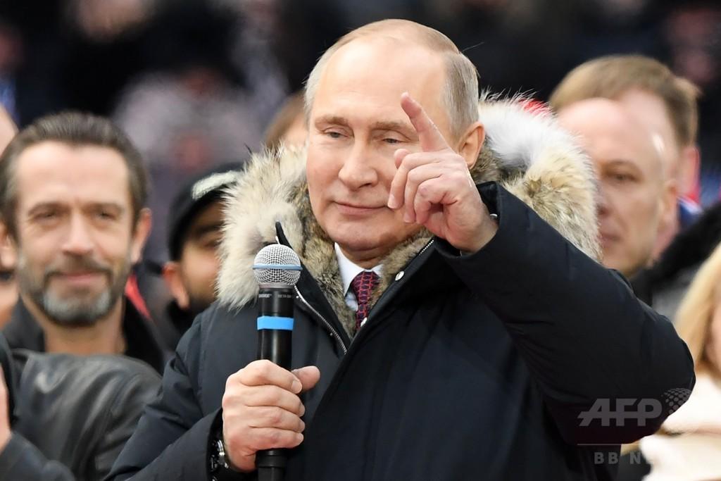 クリミア返還「絶対ない」 プーチン氏、大統領選前に強調