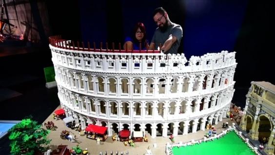 動画:歴代ジェームズ・ボンドやコロッセオも、レゴ認定プロによる作品88点 コスタリカ