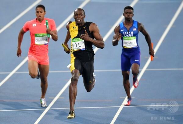 ボルトが短距離3種目3連覇、ジャマイカが400mリレー金
