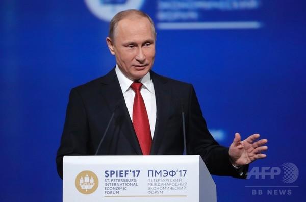 プーチン大統領、トランプ氏との協働呼び掛け 温暖化対策