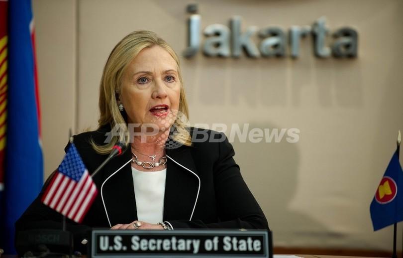 中国国営通信、米国の対中政策を批判 クリントン氏訪中を前に