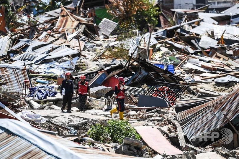 スラウェシ島地震・津波、死者1558人に 不明者1000人超の恐れ