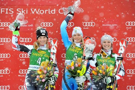ハンスドターが女子回転で悲願の初優勝、アルペンスキーW杯
